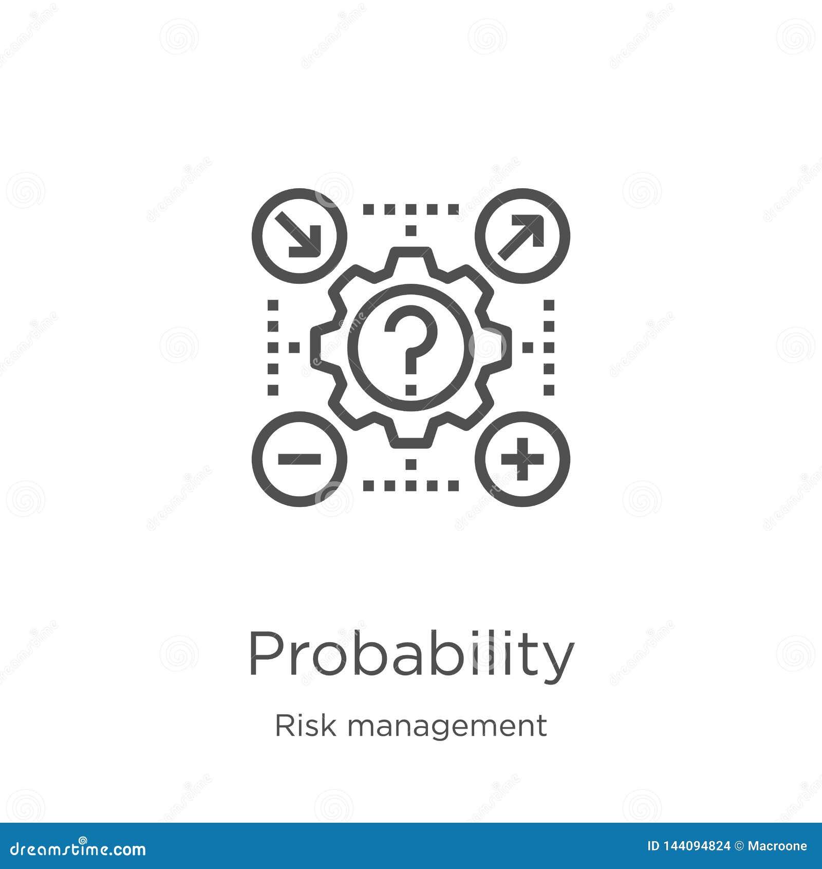 Vettore dell icona di probabilità dalla raccolta della gestione dei rischi Linea sottile illustrazione di vettore dell icona del