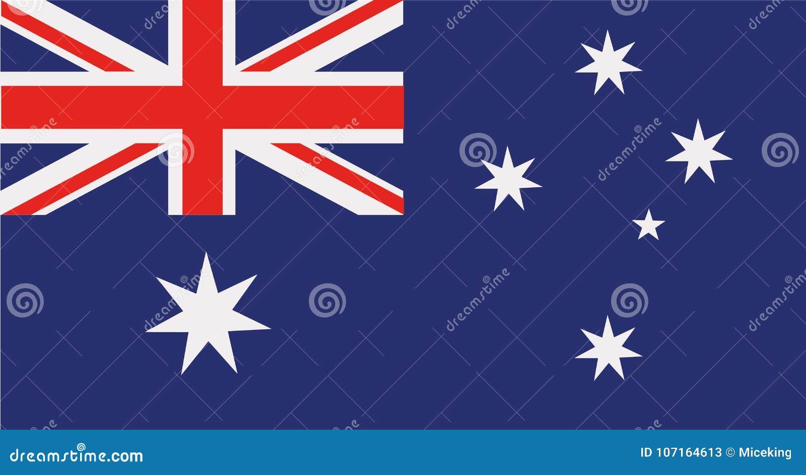 Vettore della bandiera dell Australia