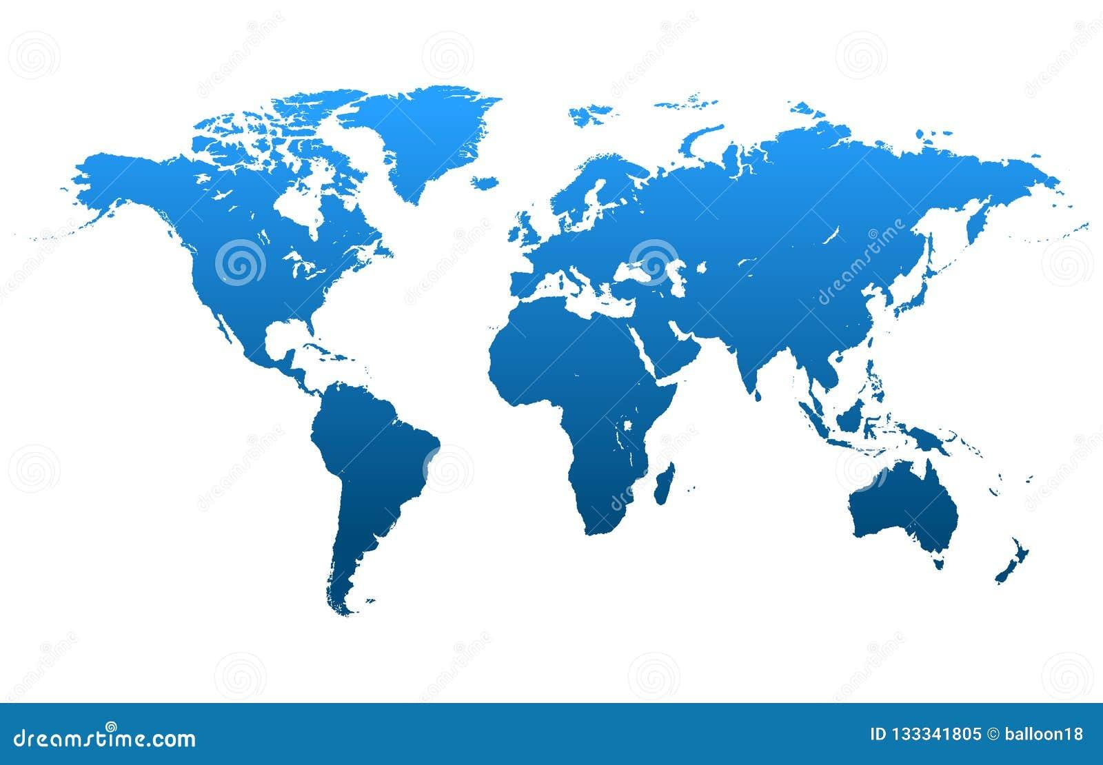 Vettore della mappa di mondo