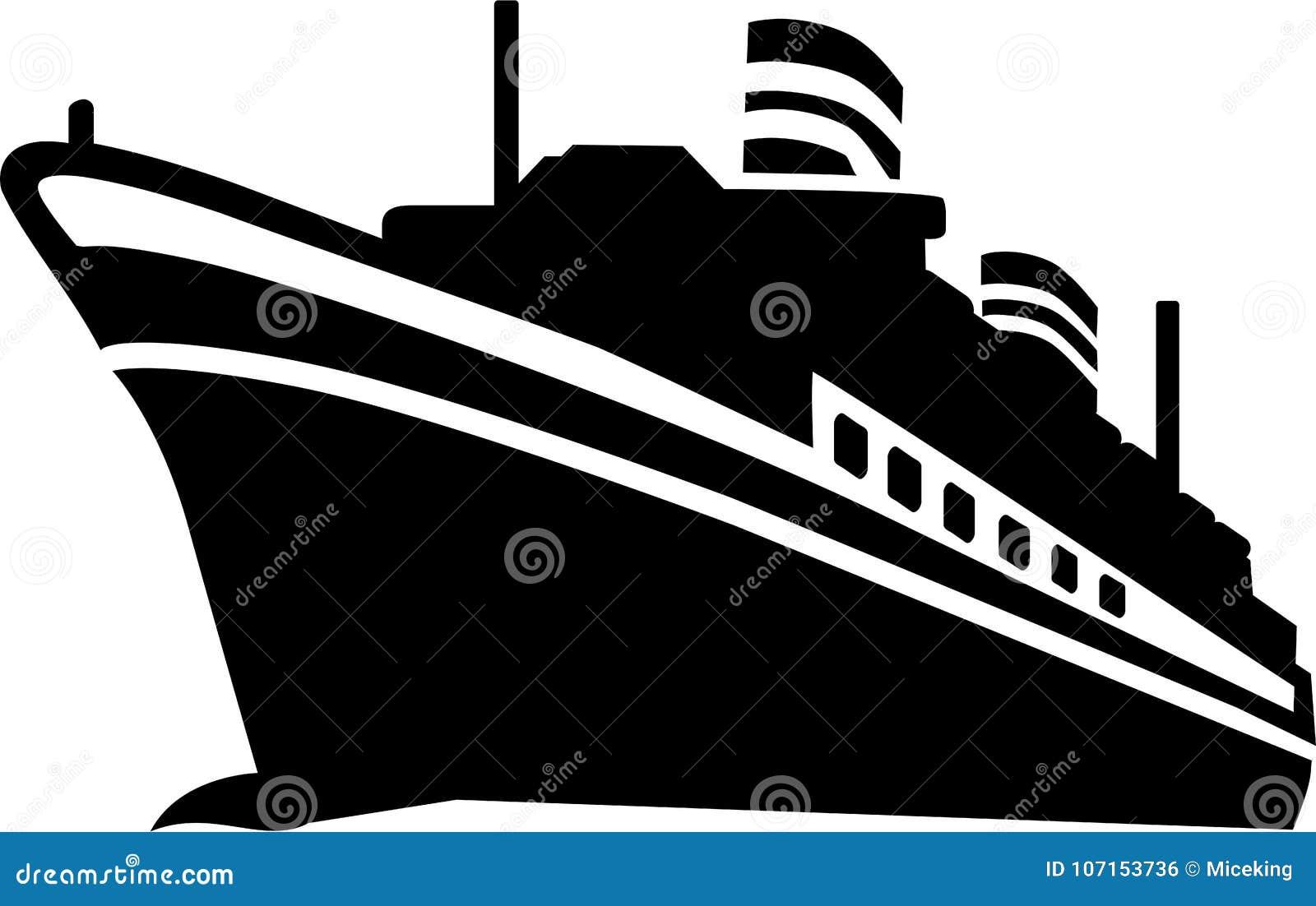 Vettore della nave da crociera