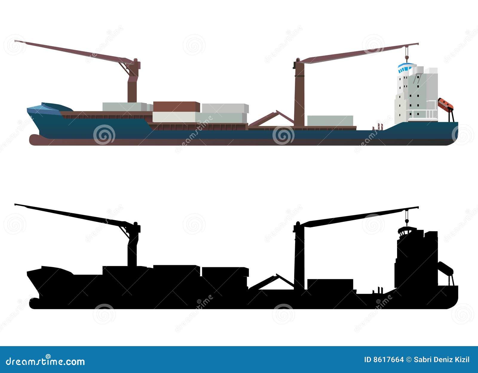 Vettore della nave porta-container