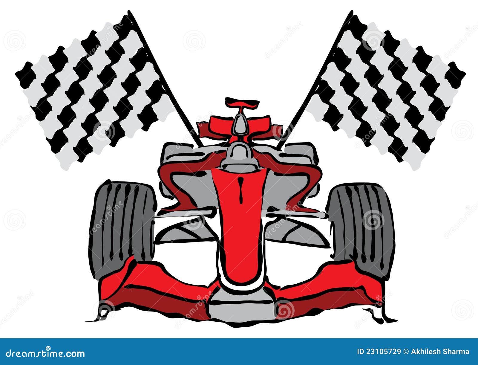 Vettore della vettura da corsa di formula 1
