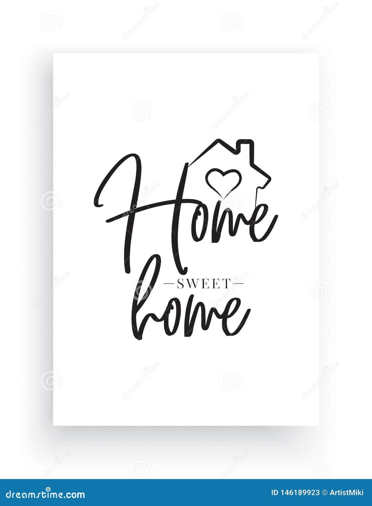 Vettore delle decalcomanie della parete, casa dolce casa, Camera con l illustrazione del cuore, esprimente progettazione, progett