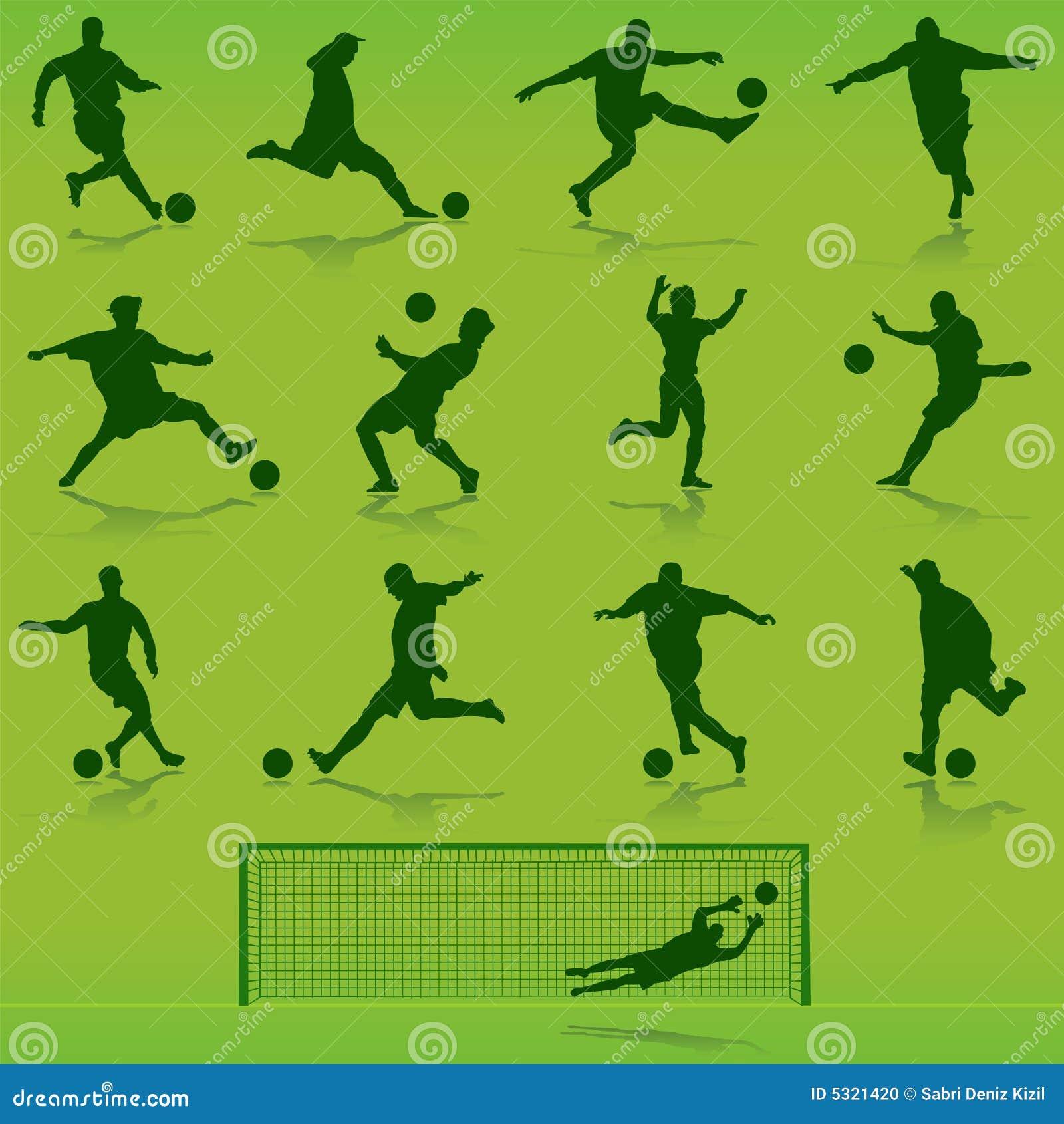 Download Vettore di calcio illustrazione vettoriale. Illustrazione di siluetta - 5321420