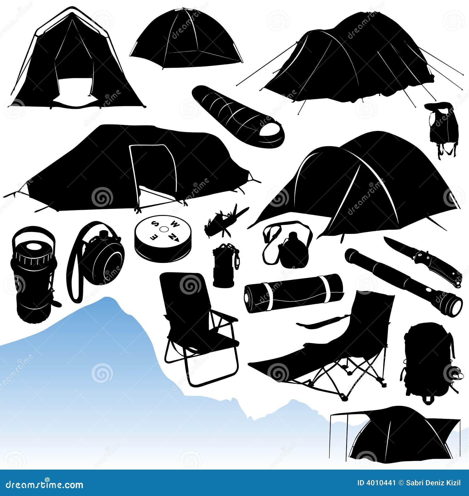 Vettore di campeggio