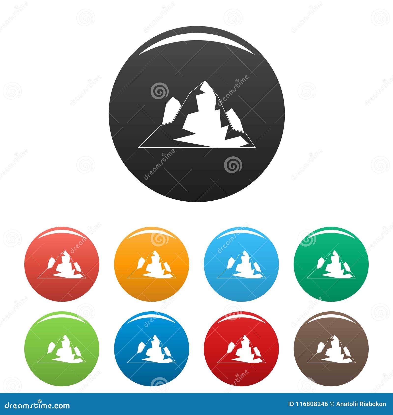 Vettore di colore fissato icone dell iceberg