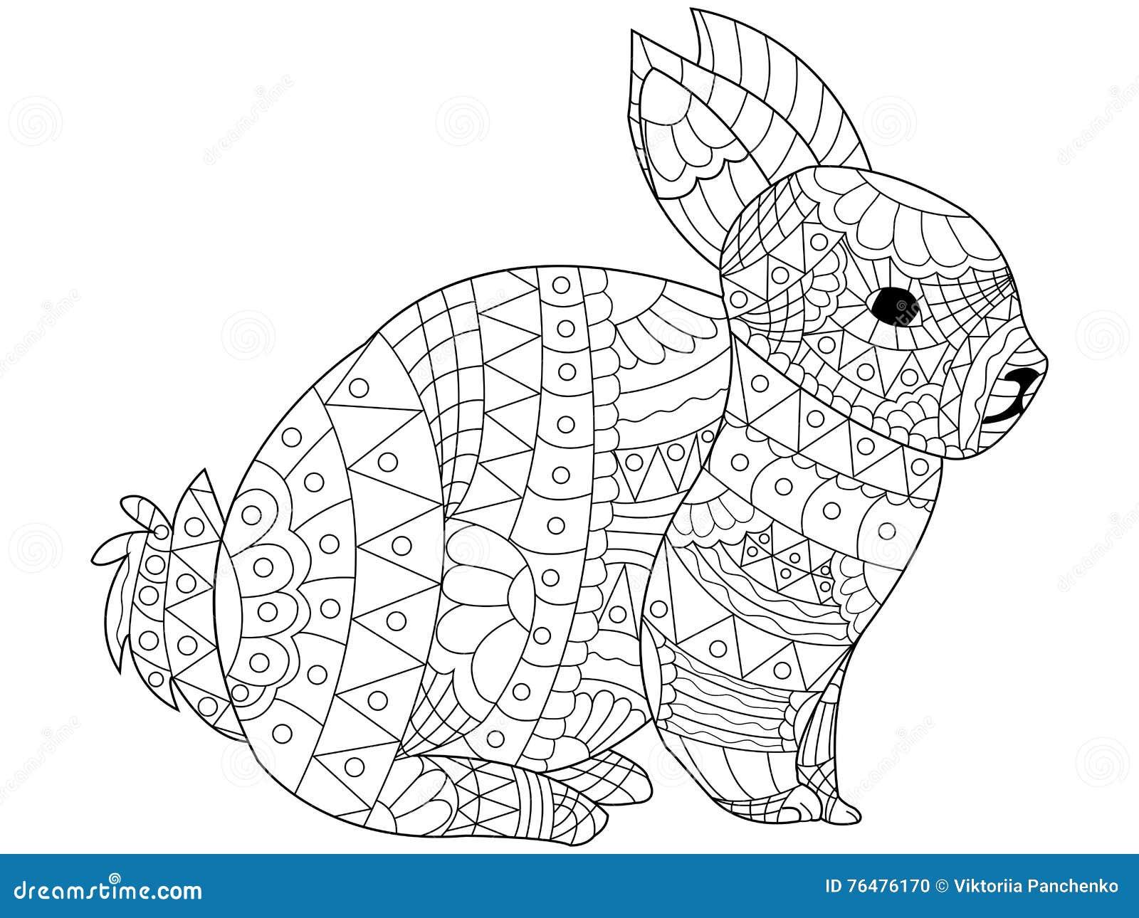 Cute Dieren Kleurplaten Hamster Vettore Di Coloritura Del Coniglio Per Gli Adulti