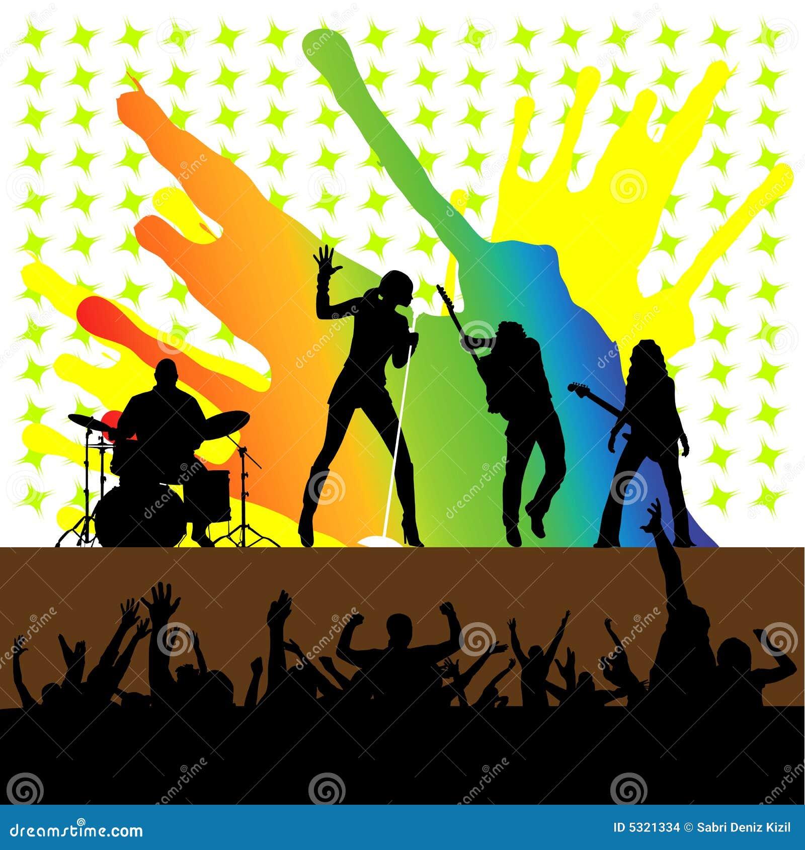 Download Vettore Di Concerto Di Roccia Illustrazione Vettoriale - Illustrazione di musicisti, nero: 5321334