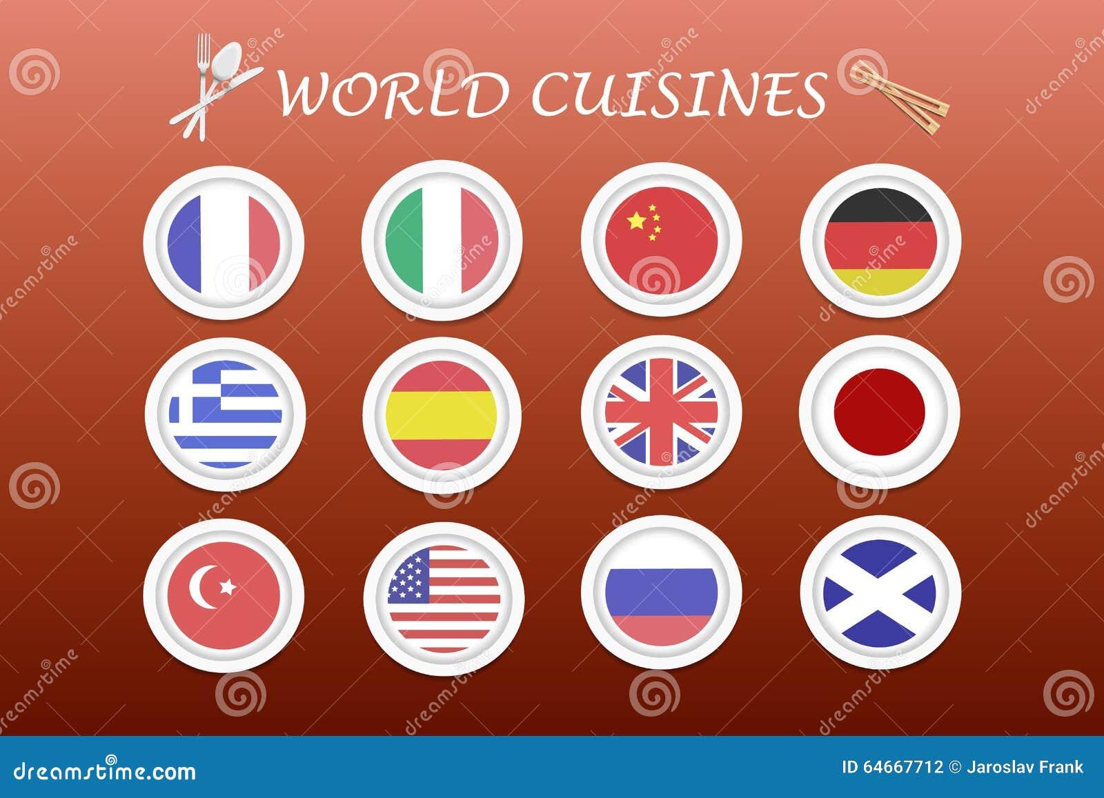 Vettore Di Cucine Del Mondo Illustrazione Vettoriale - Illustrazione ...