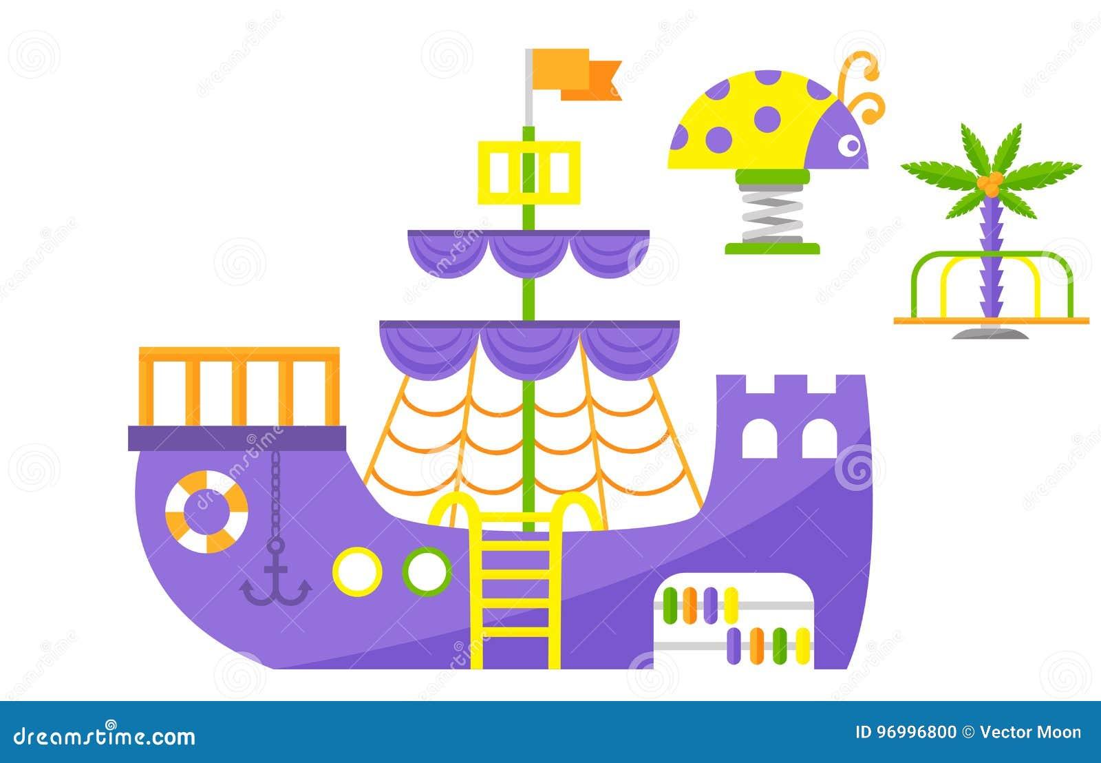 Vettore di divertimento di asilo del giocattolo dell attrezzatura dell oscillazione di ricreazione del posto di attività del parc