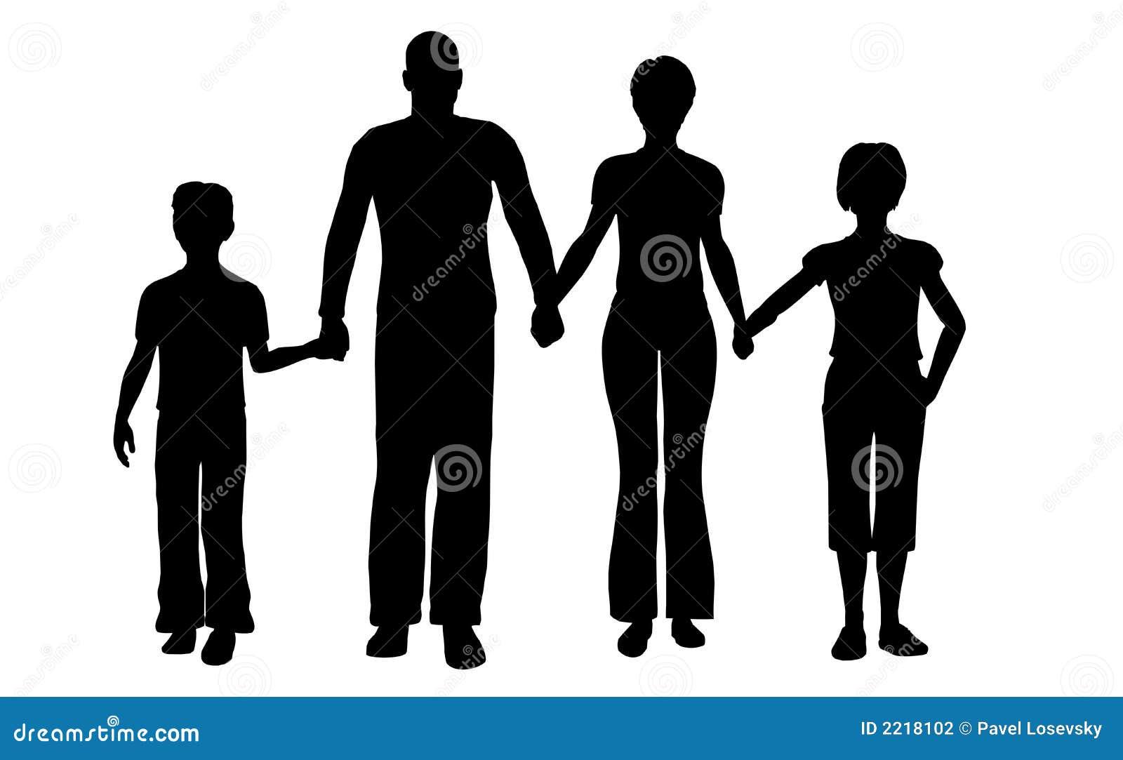 Vettore di famiglia di quattro