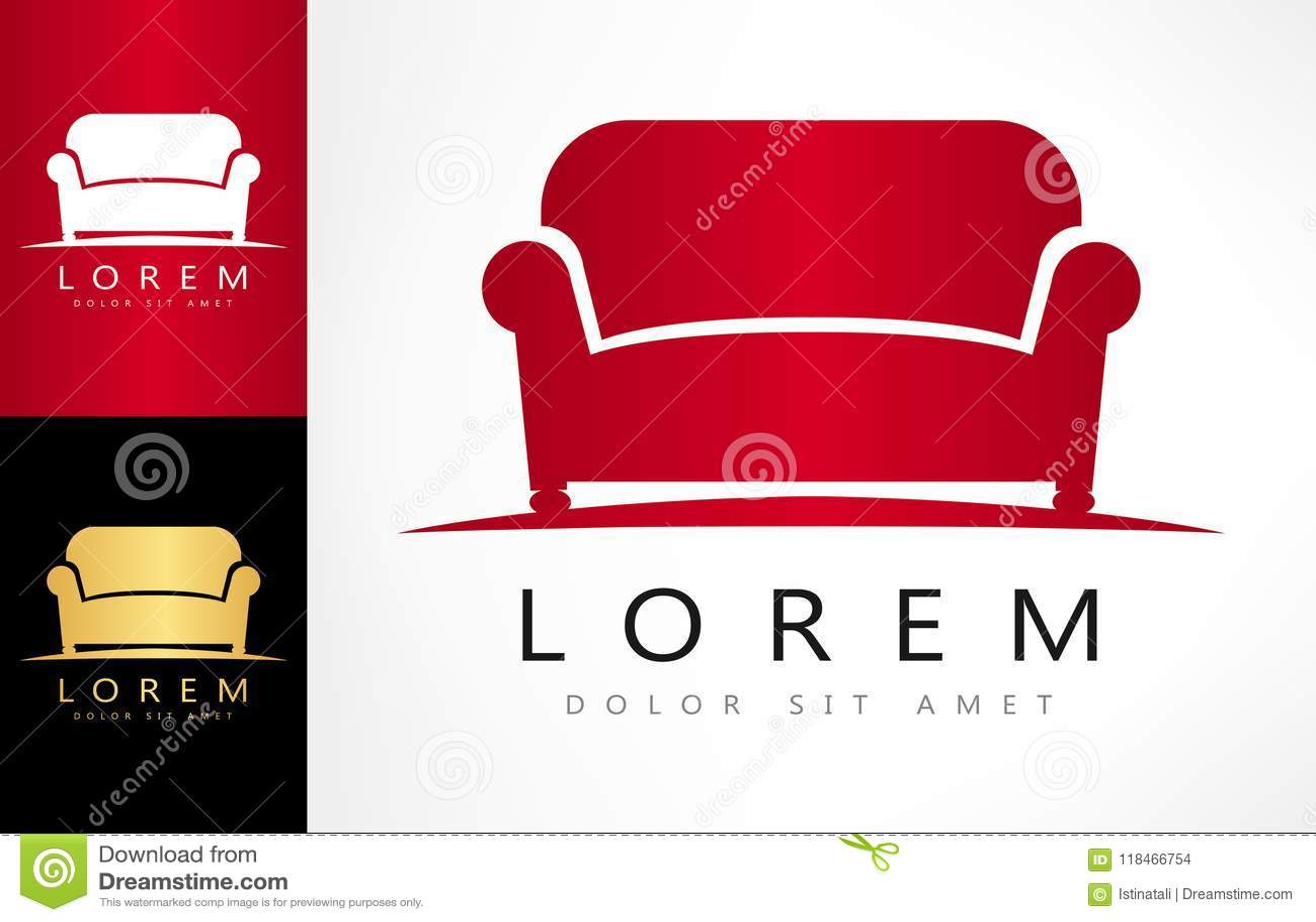 Vettore di logo del sofà