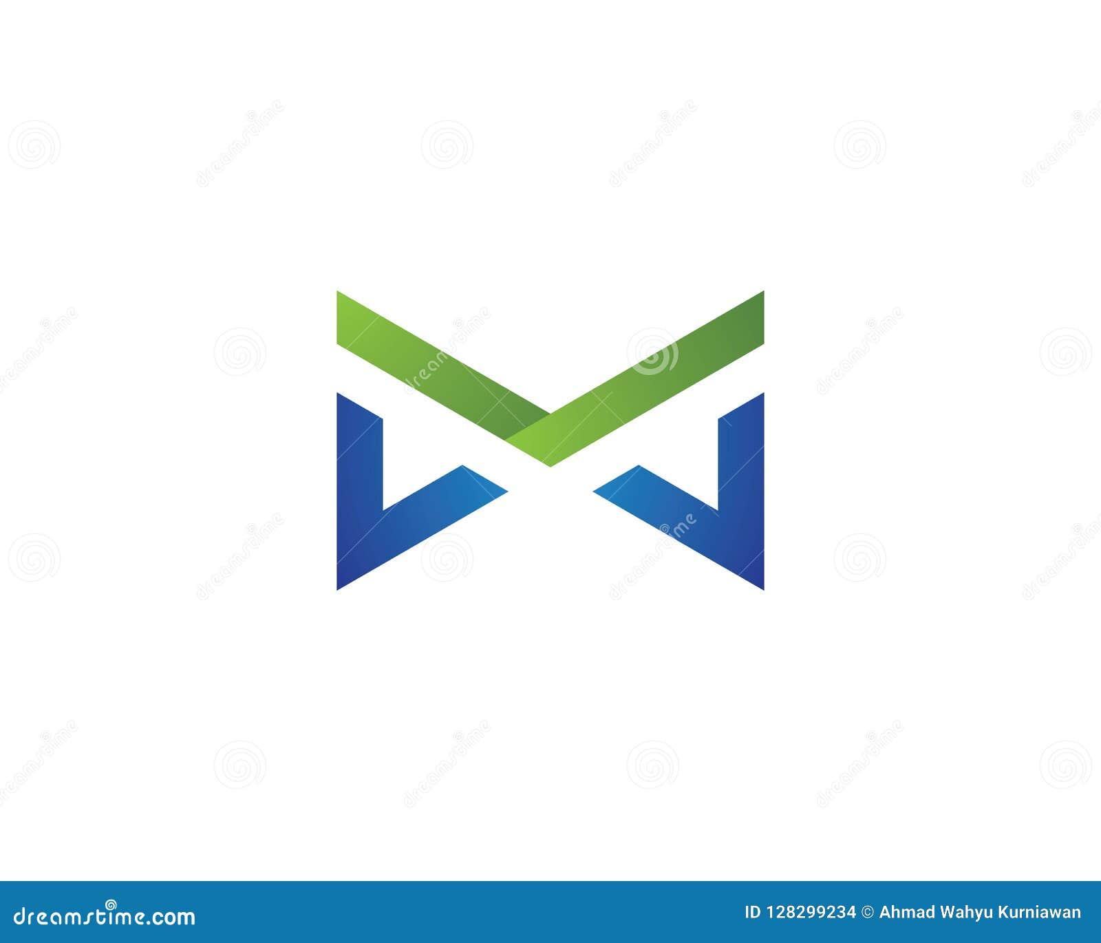Vettore di logo della lettera di m.