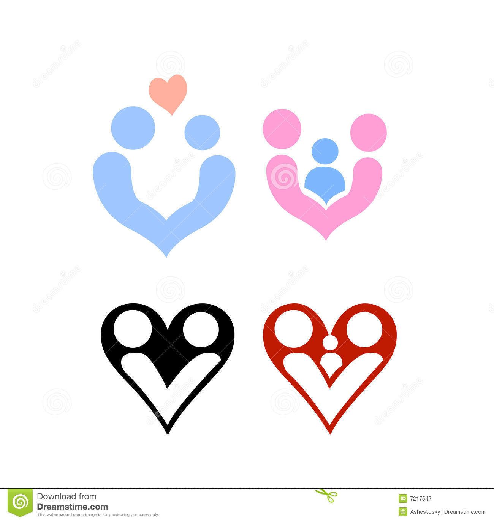 Vettore Di Marchi Di Disegno Di Amore E Della Famiglia Illustrazione