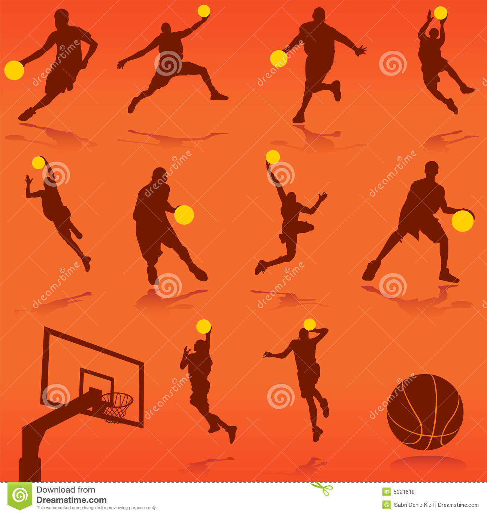 Download Vettore di pallacanestro illustrazione vettoriale. Illustrazione di sfera - 5321618