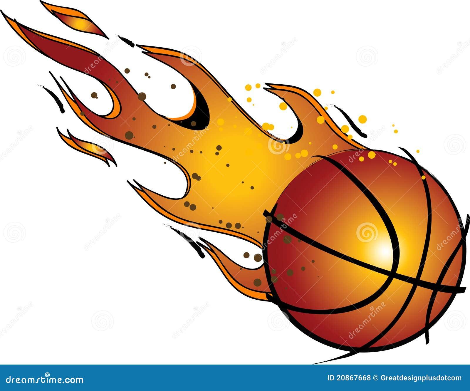 Vettore di pallacanestro?/arte di clip ardenti
