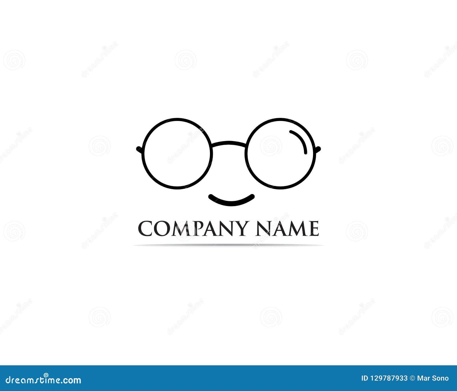 Vettore di progettazione di logo di vetro