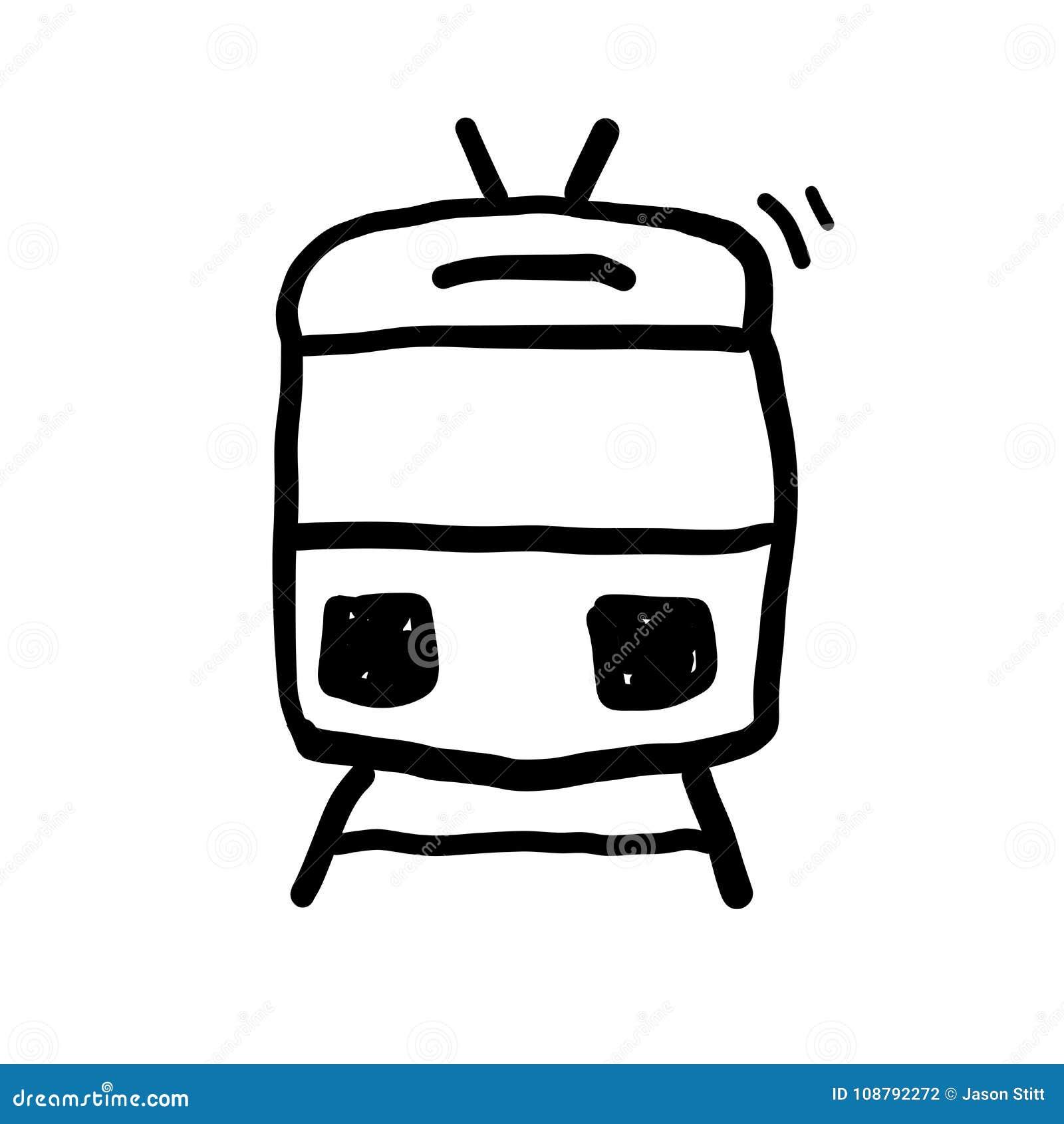 Vettore di scarabocchio del treno