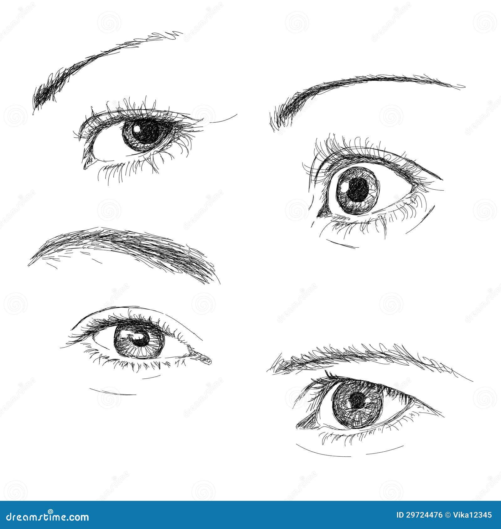 Occhi disegnati a mano immagine stock libera da diritti for Immagini teschi disegnati