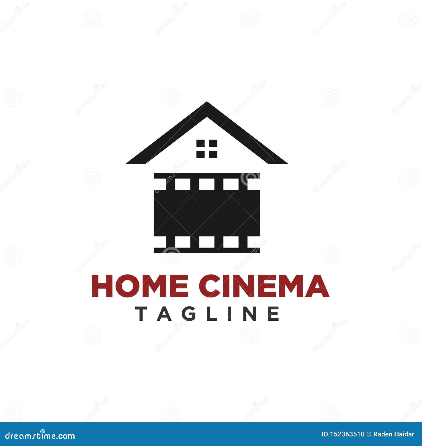 Vettore domestico di progettazione di logo del cinema