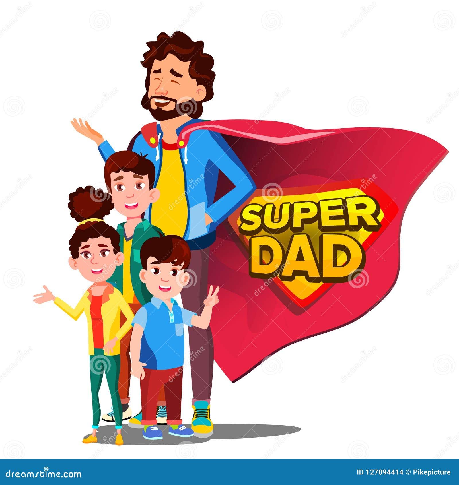 Vettore eccellente del papà Giorno del padre s Distintivo dello schermo Fumetto piano isolato Illudtration