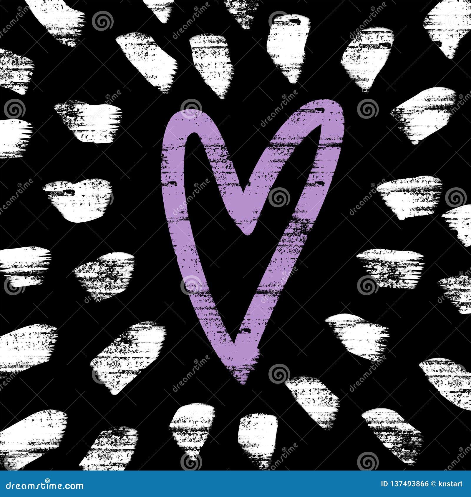 Vettore ed immagine di jpg, clipart Fondo con gli elementi della decorazione e del cuore
