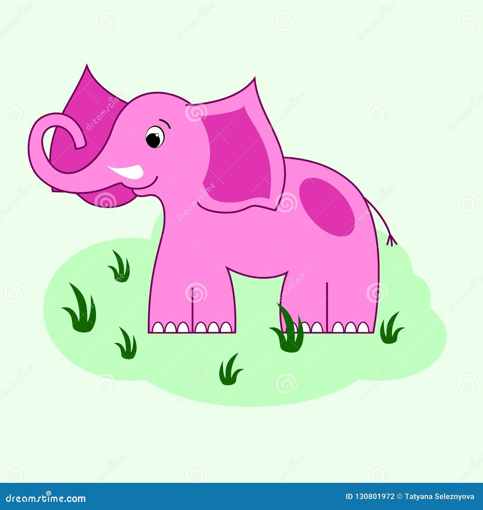 Vettore elefant rosa