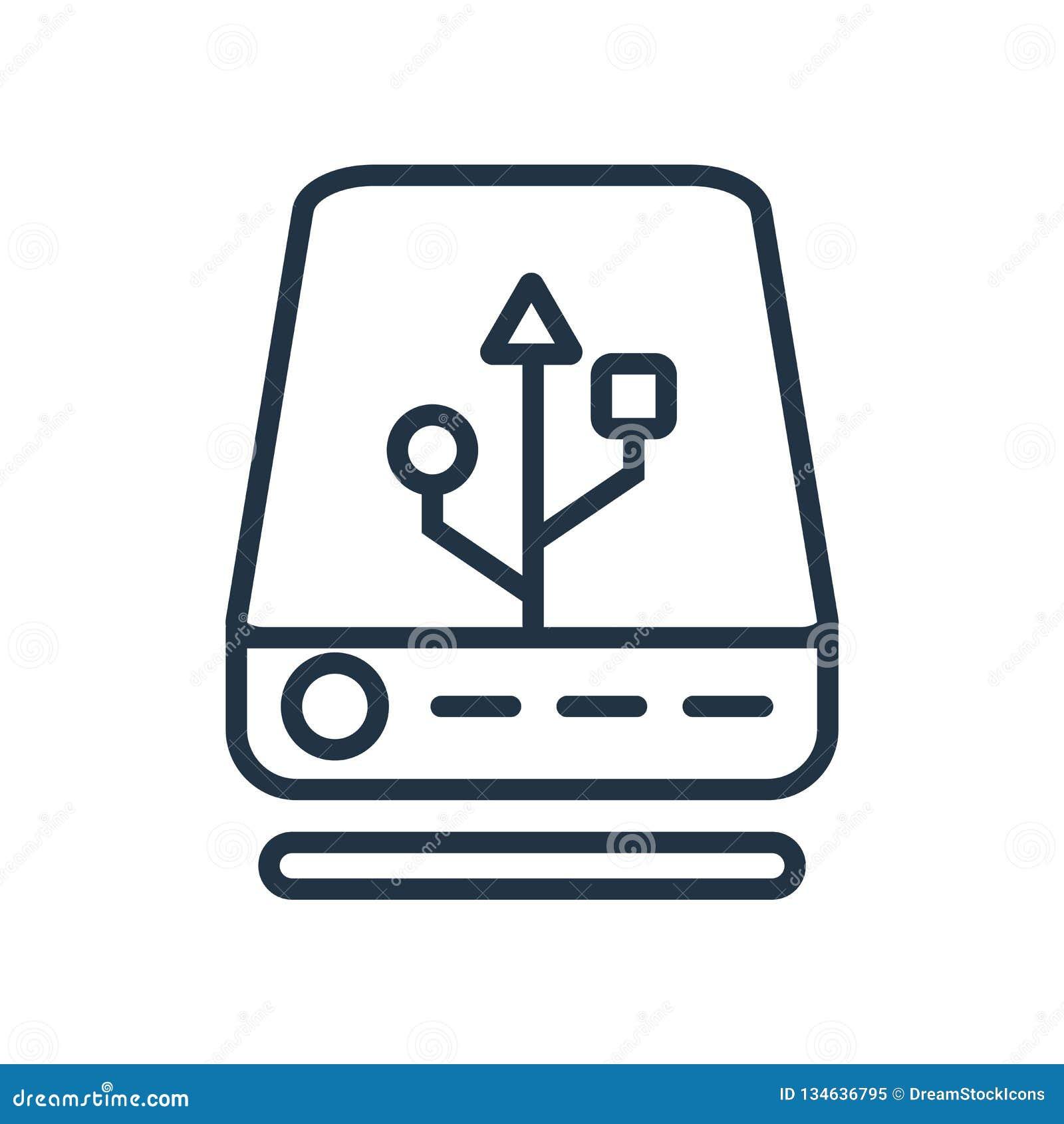 Vettore esterno dell icona isolato su fondo bianco, segno esterno
