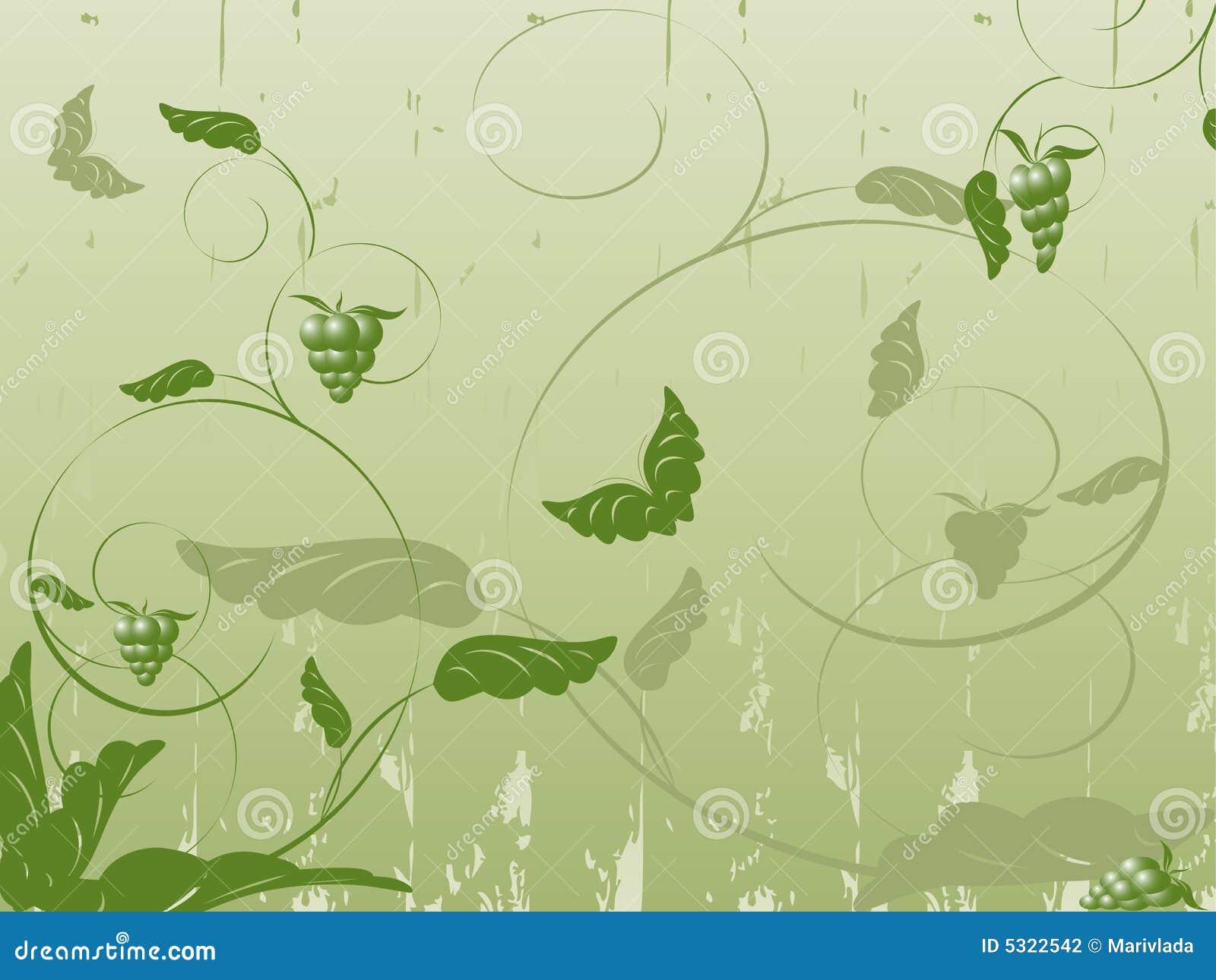 Download Vettore Floreale Astratto Con Le Piante, Farfalle Illustrazione Vettoriale - Illustrazione di arricciatura, rotolo: 5322542