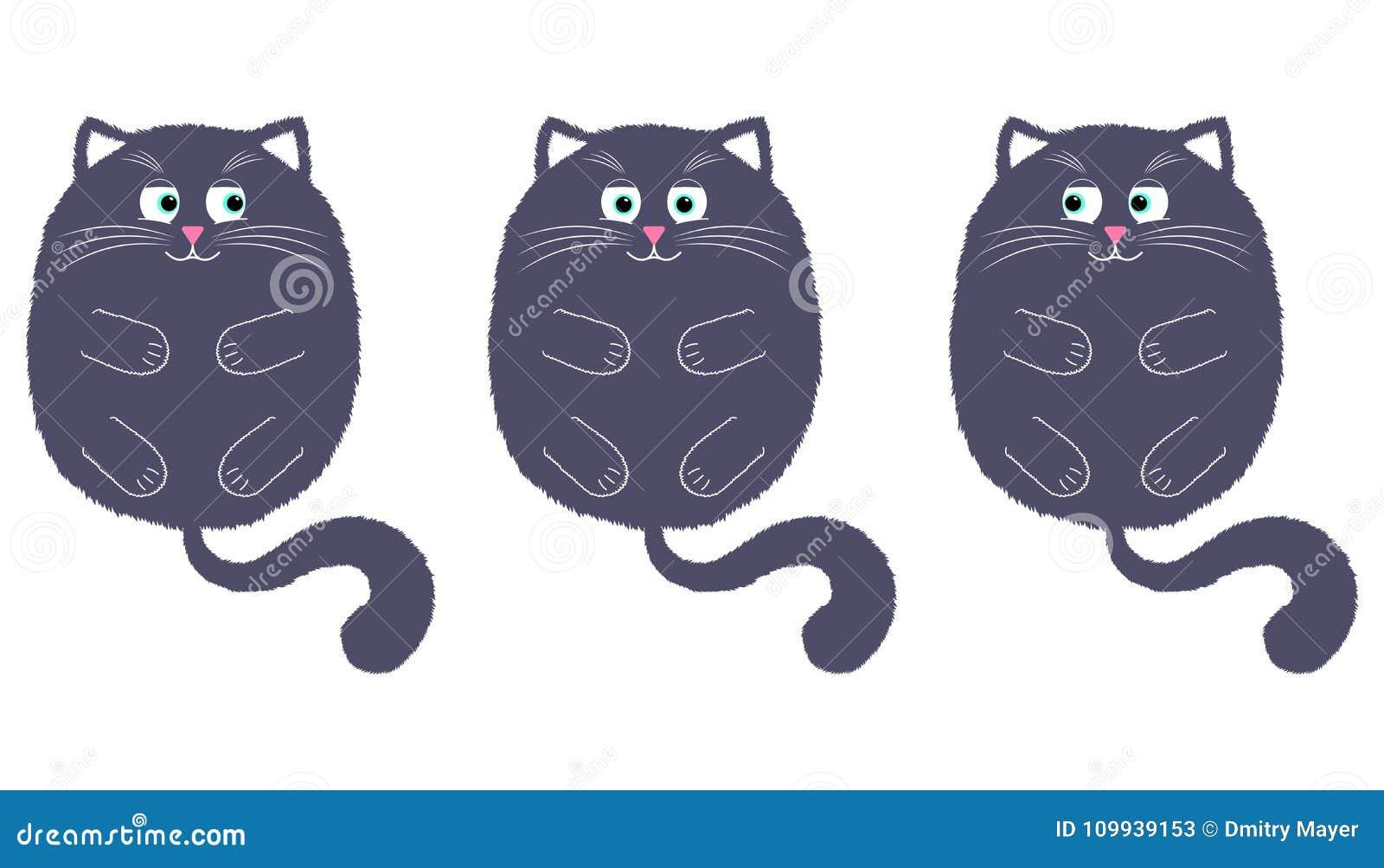 Vettore Gray Cat nello stile del fumetto 2