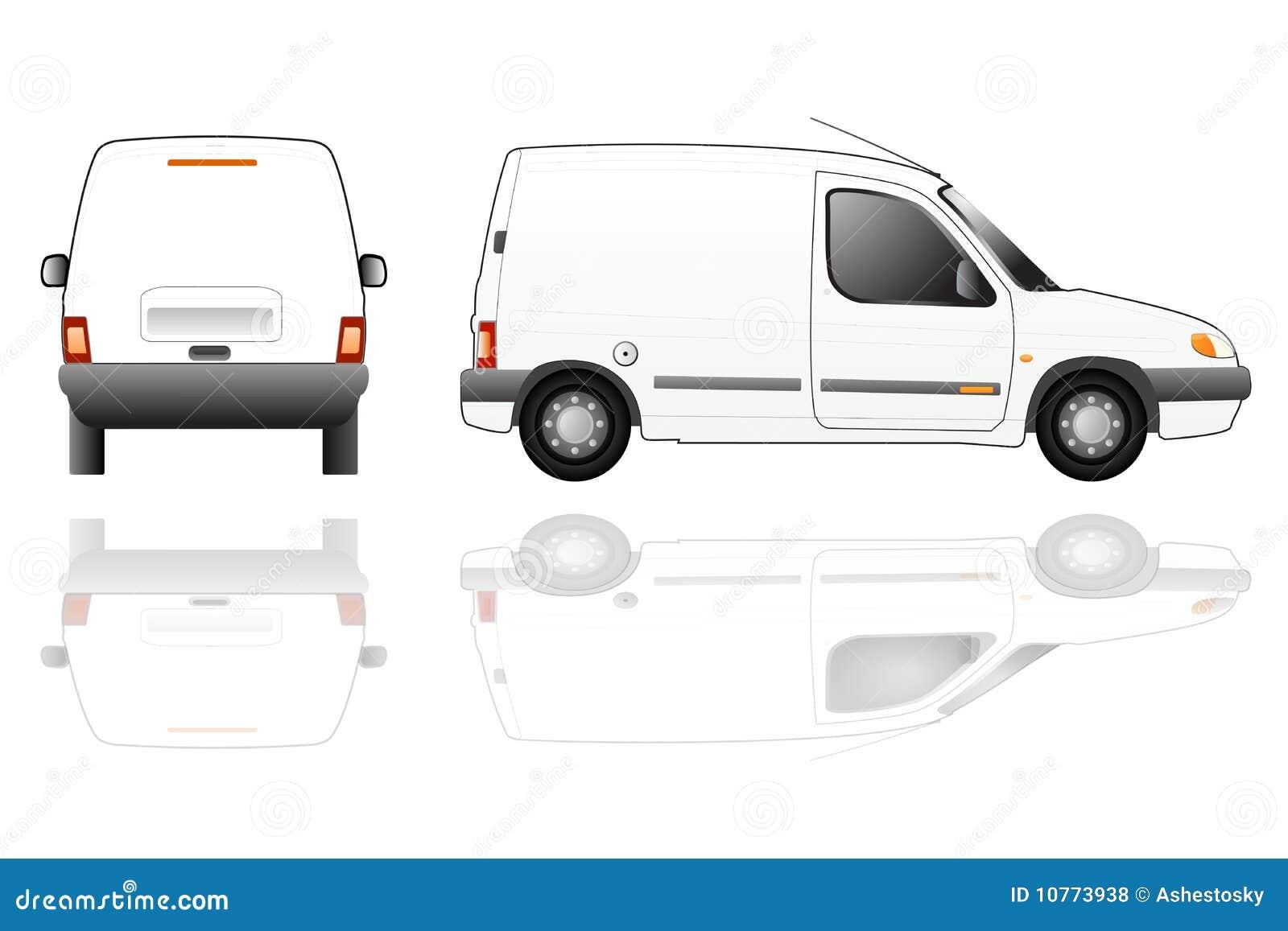 Bianco consegna furgone testo vettore