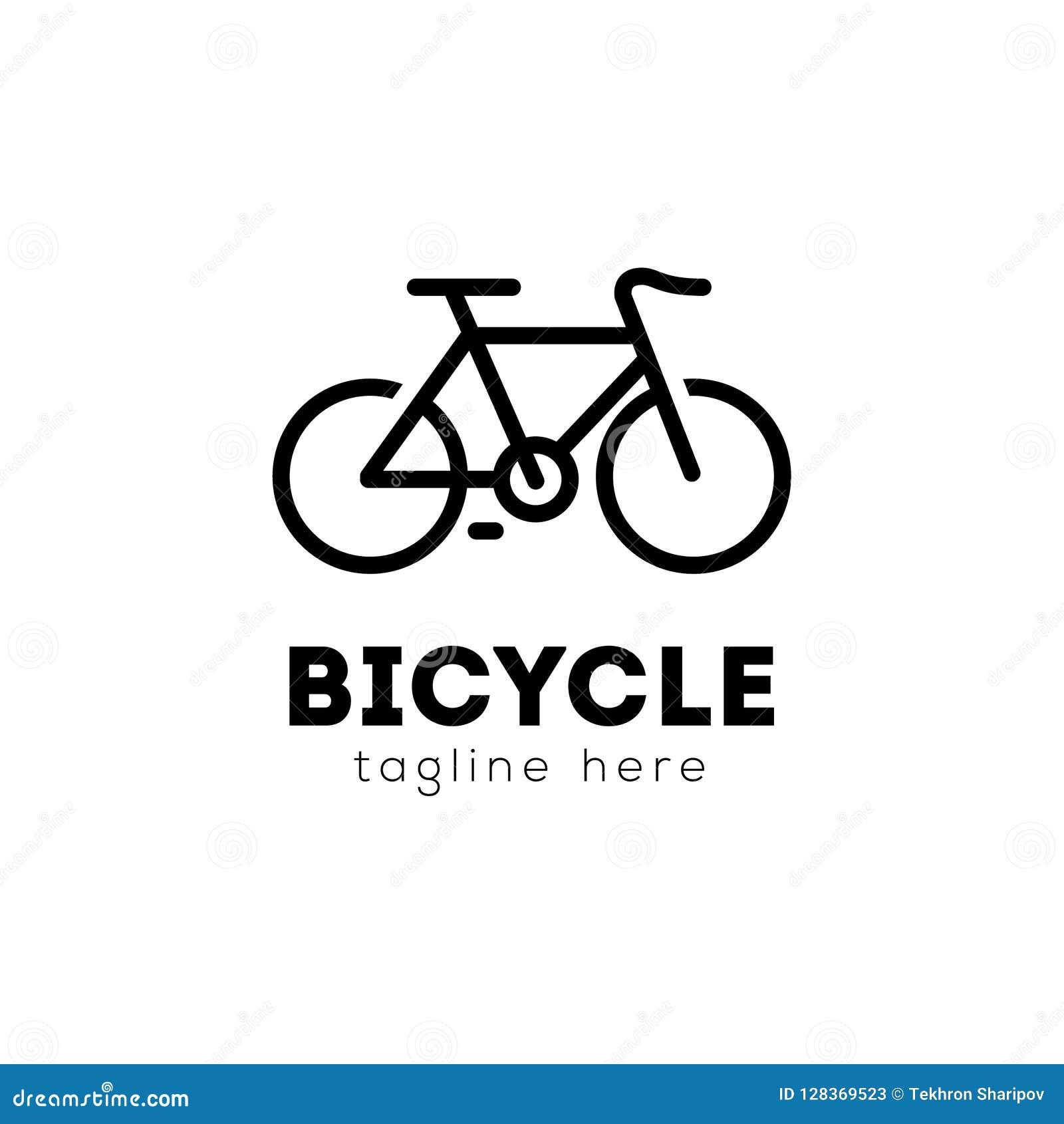 Vettore Logo Illustration Emblem Design Della Bicicletta