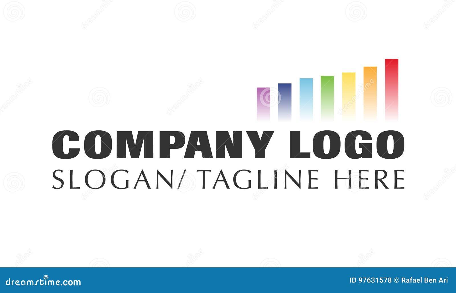 Vettore - logo moderno della società di affari di finanza, isolato su fondo bianco Illustrazione di vettore
