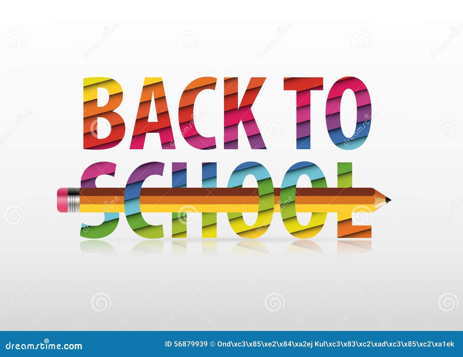 Vettore multicolore di nuovo al testo di scuola