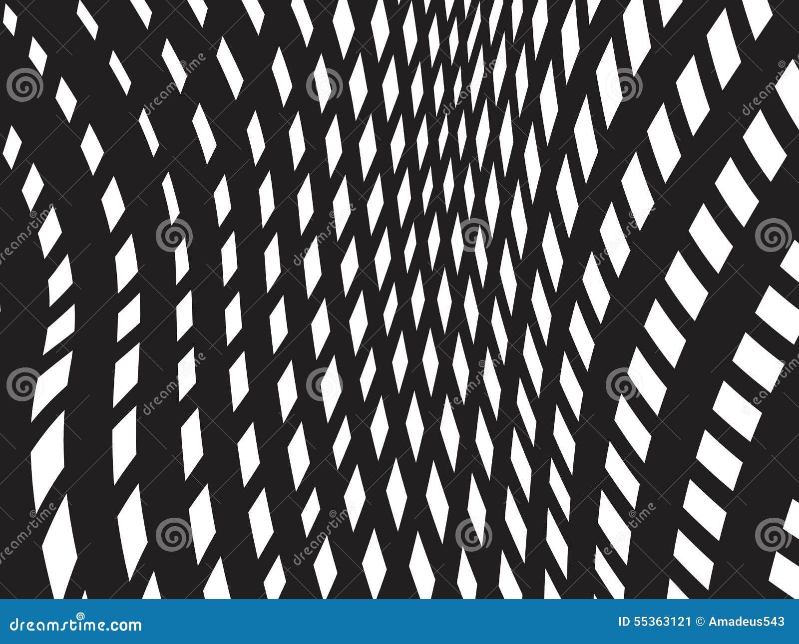 Vettore ottico bianco nero del fondo di progettazione del modello