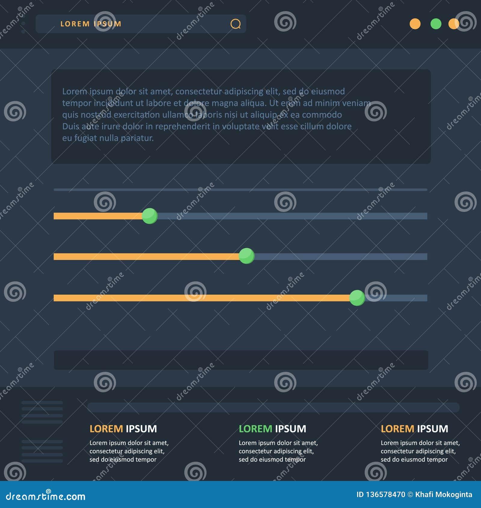 Vettore piano del grafico di infographics dell illustrazione con la linea