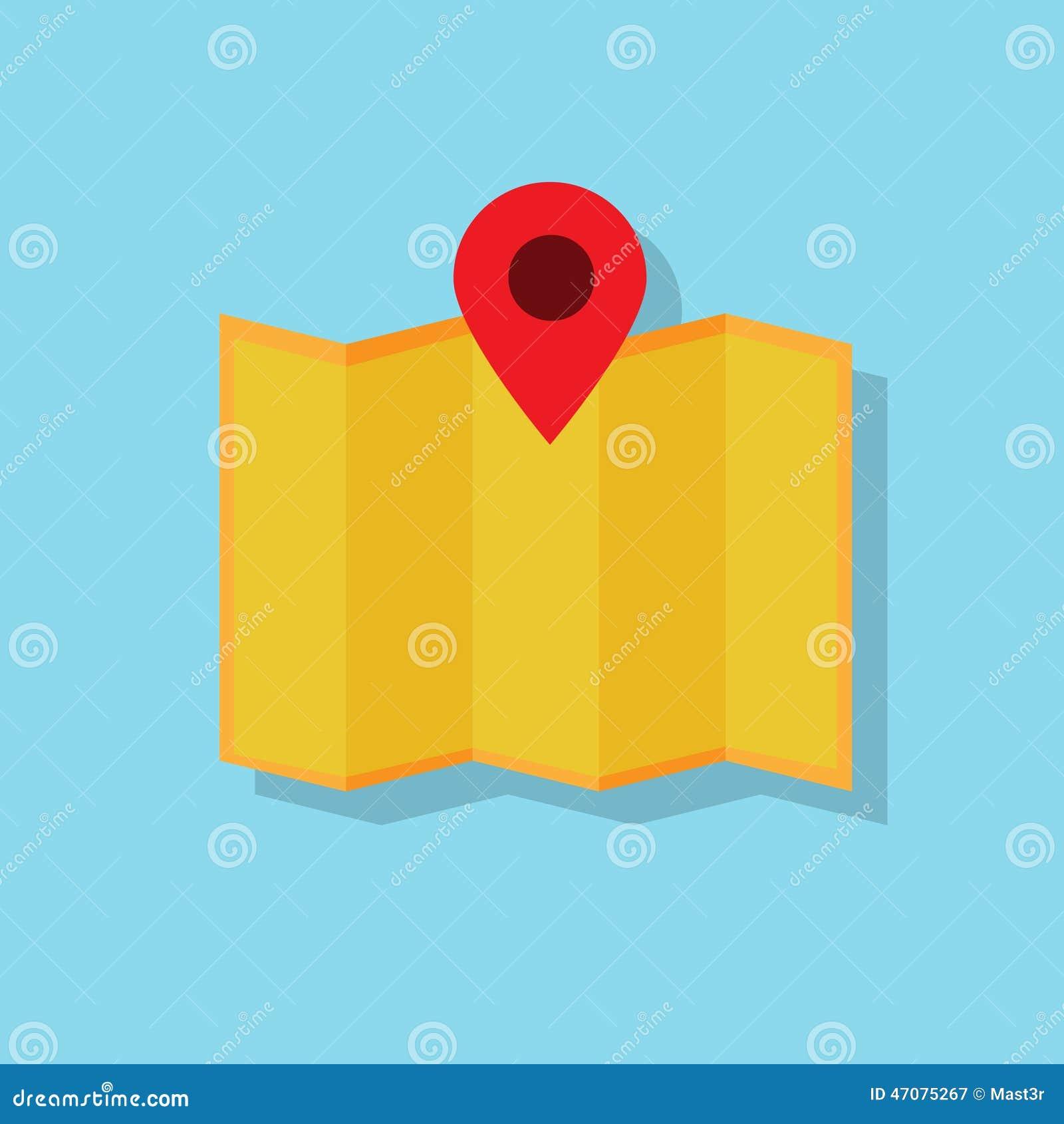 Vettore piano di progettazione dell icona di navigazione della mappa