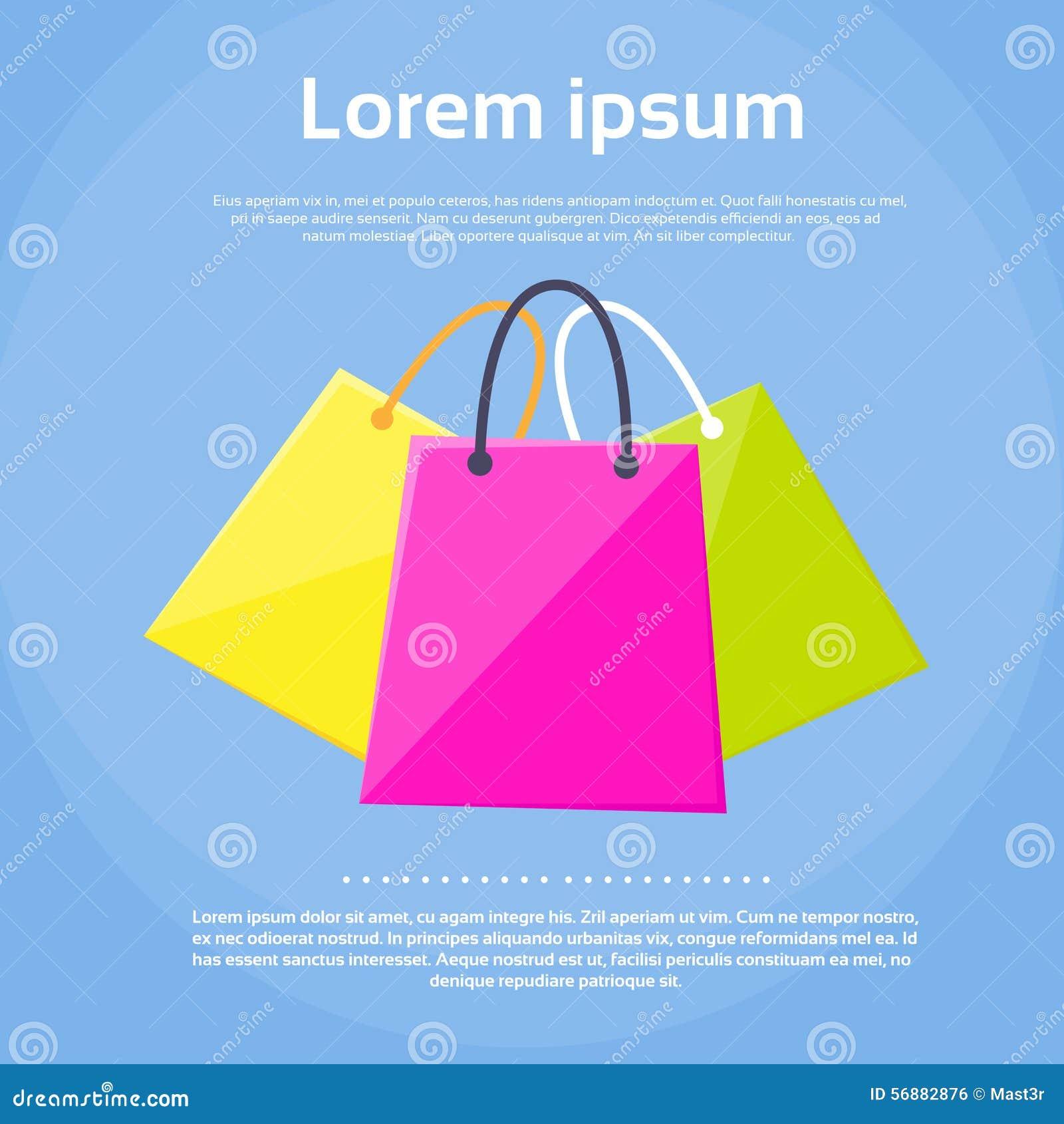 Vettore piano di progettazione dell insieme variopinto del sacchetto della spesa