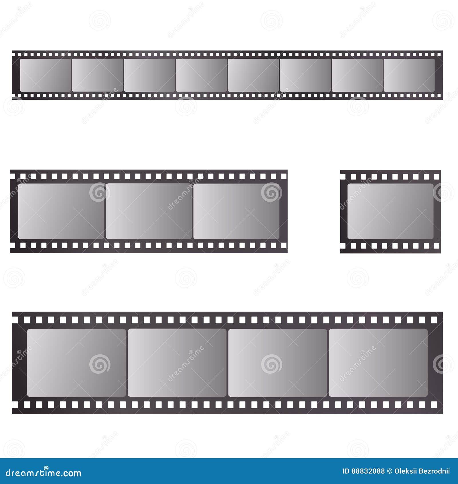 Vettore realistico della striscia di pellicola retro
