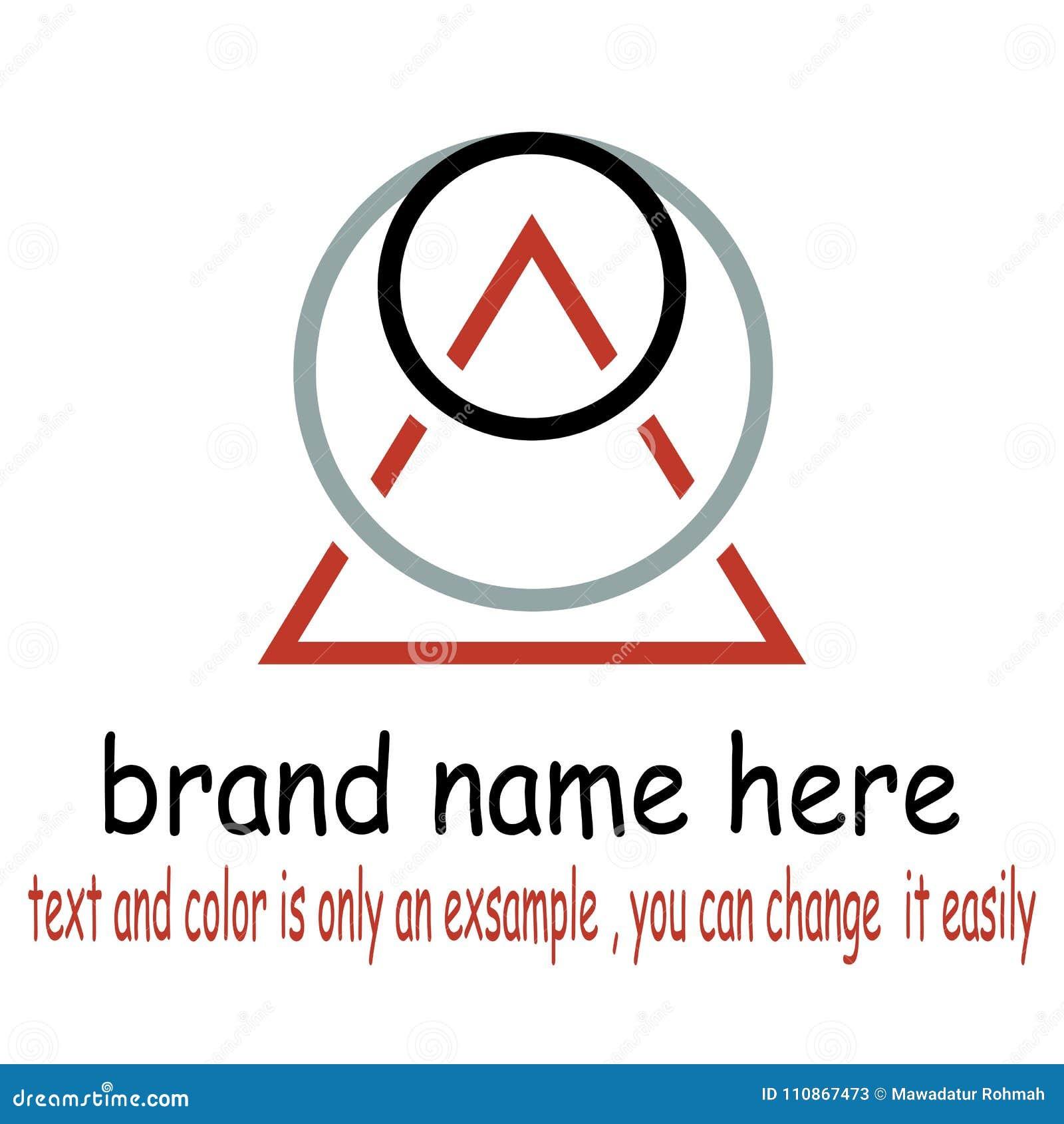 Vettore rotondo di logo del triangel