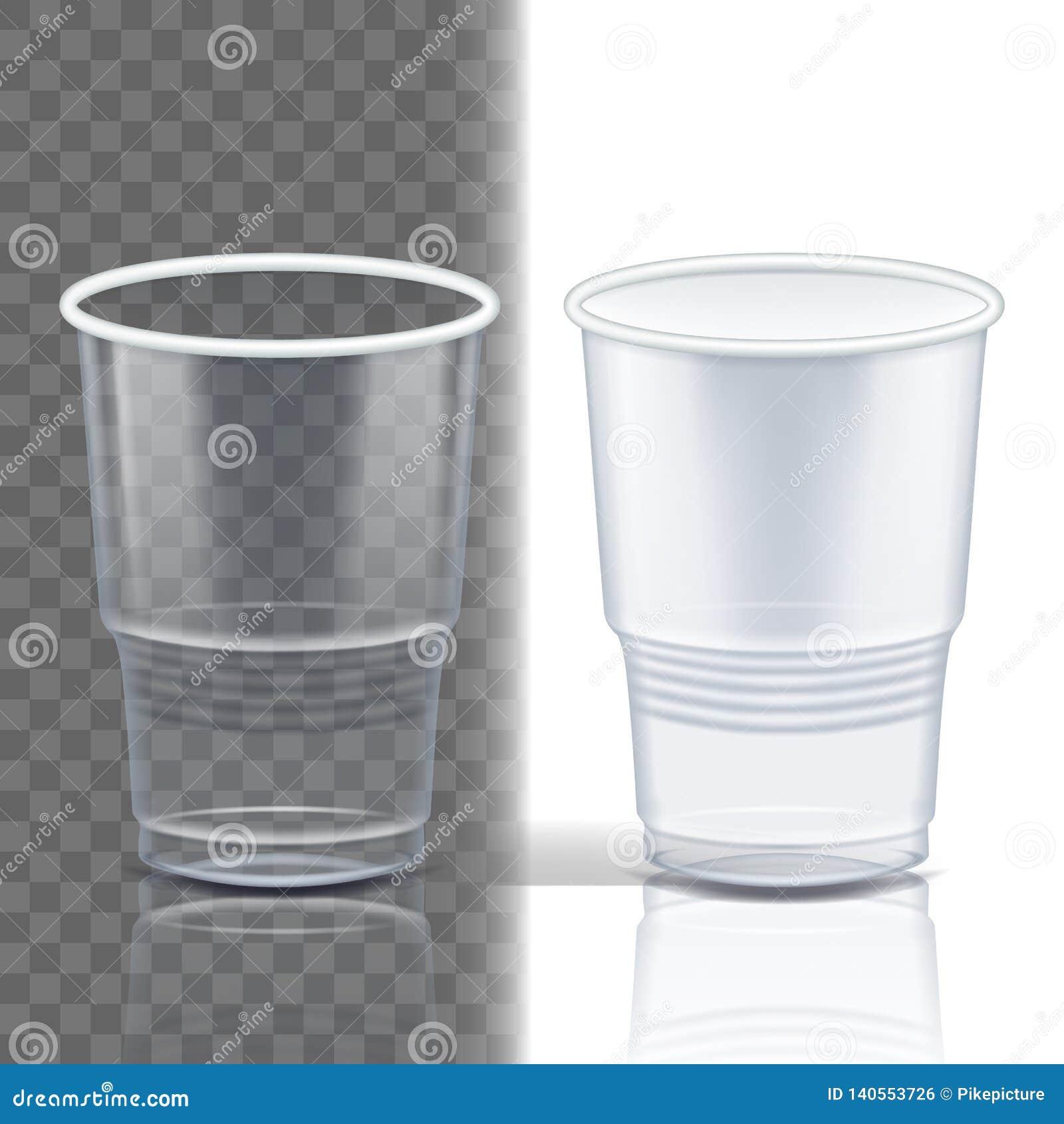 Vettore trasparente della tazza di plastica Imballaggio del prodotto Tazza della bevanda Contenitore vuoto della radura eliminabi