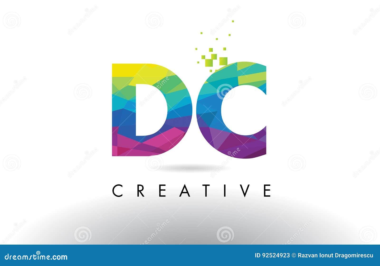 Vettore variopinto di progettazione dei triangoli di origami della lettera di CC D C