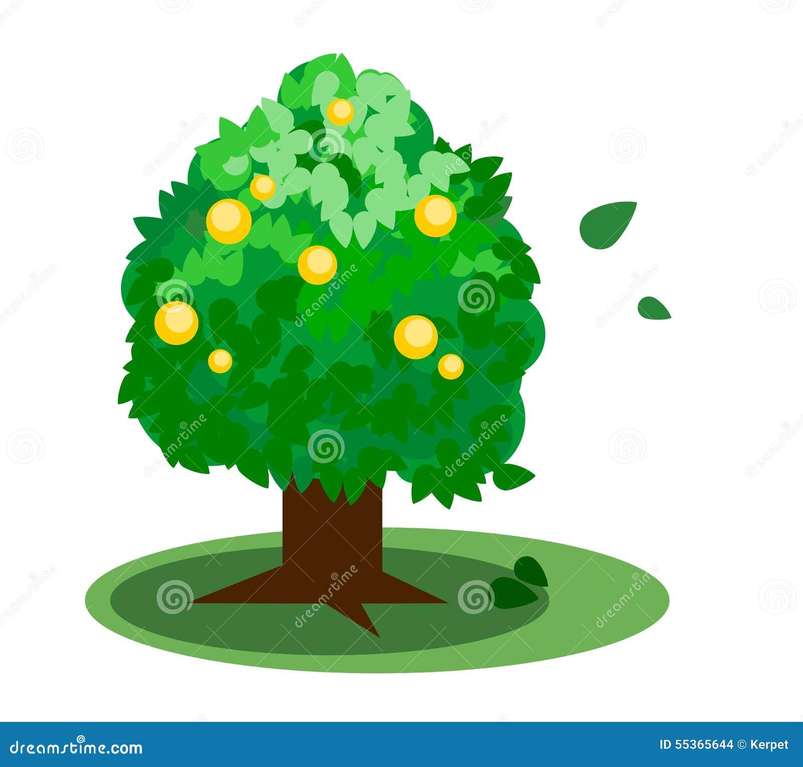 Vettore verde dell albero