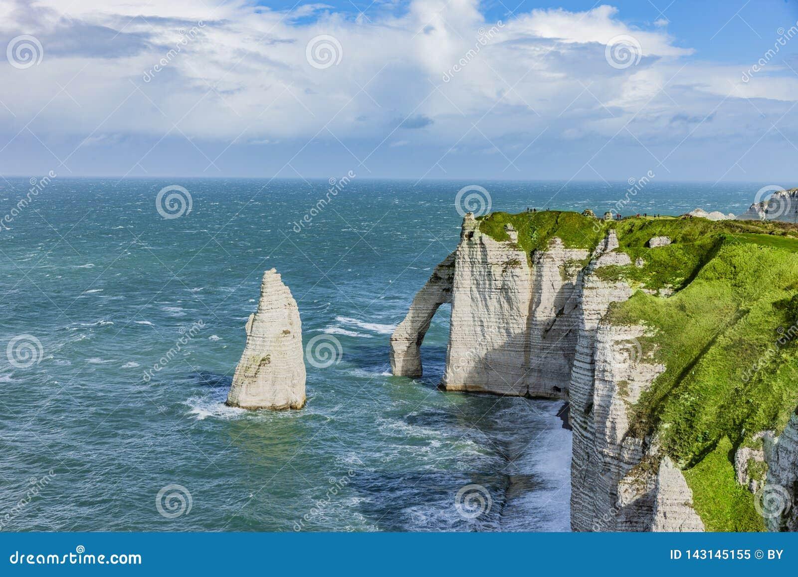Vew van de Klippen van Normandië in Etretat