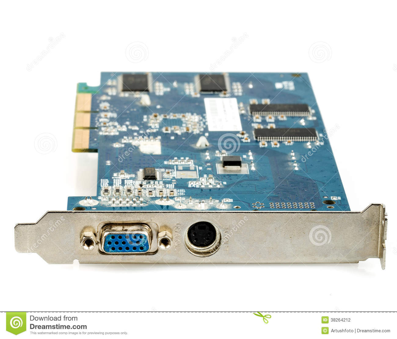 vga computer graphic card isolated stock photo  image