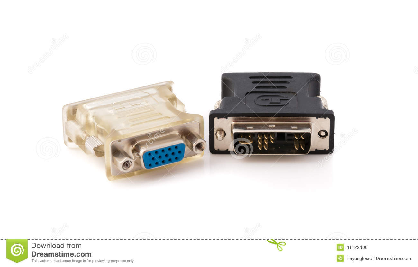 Vga To Dvi Display Converter Stock Photo Image Of Hardware Macro Konventer