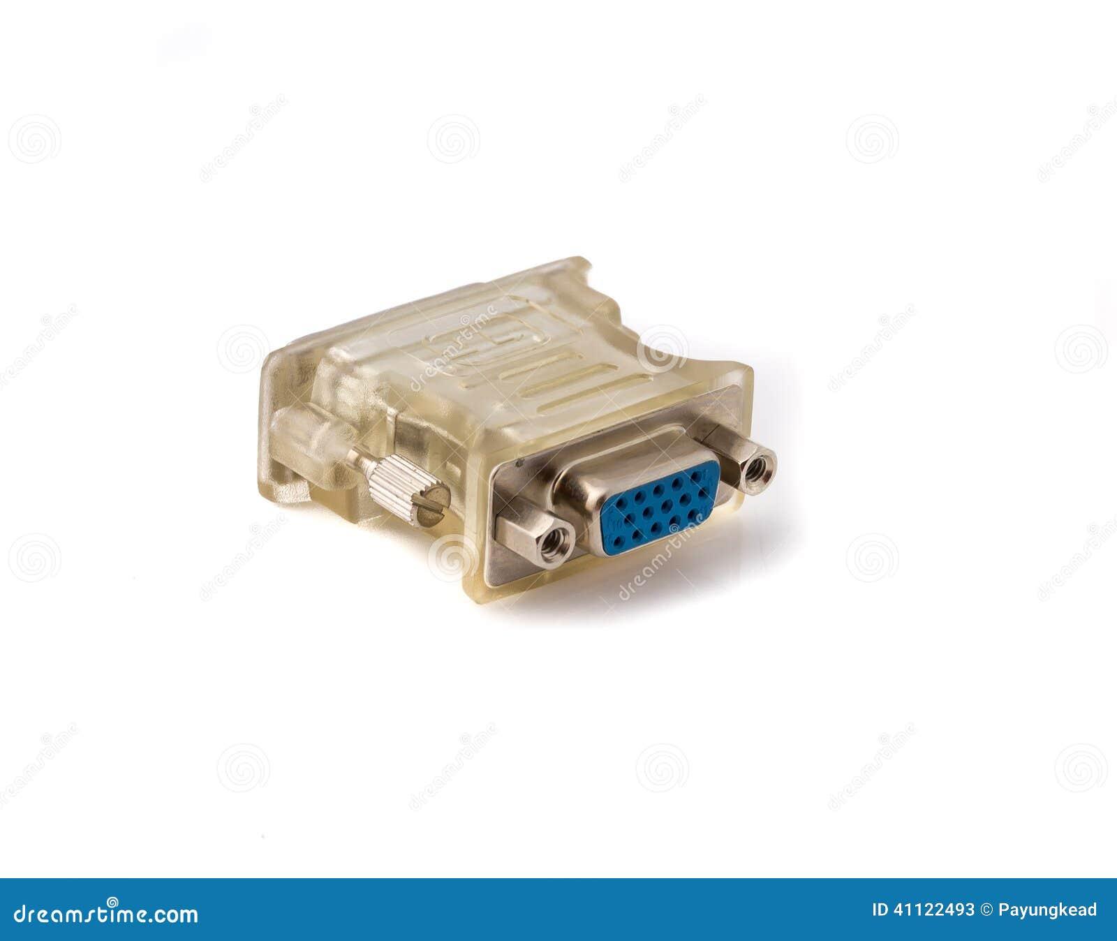 Vga To Dvi Display Converter Stock Image Of Electrical Konventer