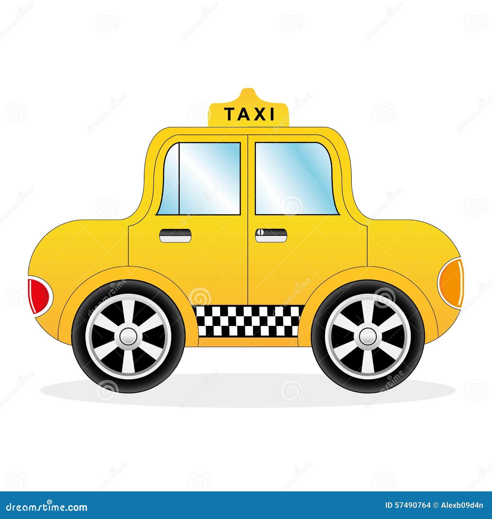 Véhicule Jaune De Taxi De Dessin Animé Illustration de Vecteur - Image: 57490764