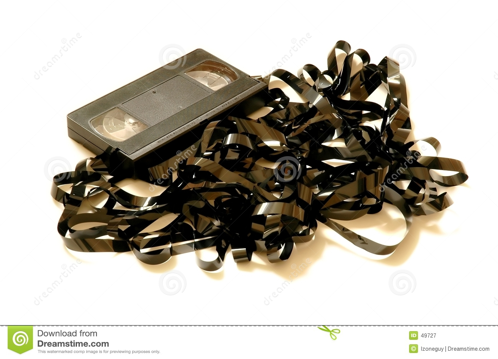 VHS Tape unwound - full