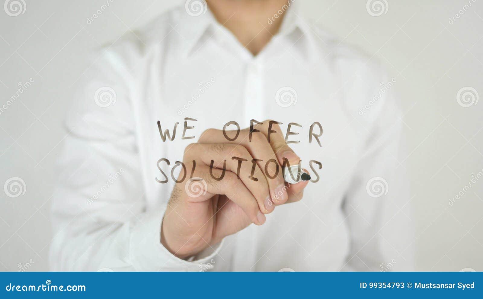 Vi erbjuder lösningar som är skriftliga på exponeringsglas